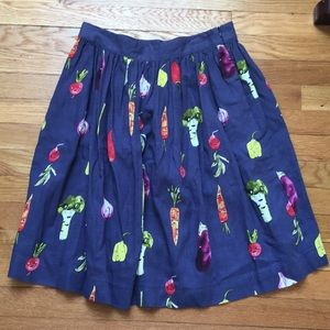 NWT Pepaloves 'Veggie as She Goes' Skirt M
